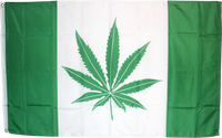 3'X5' GREEN CANADA LEAF FLAG 100D ROUGH TEX ®