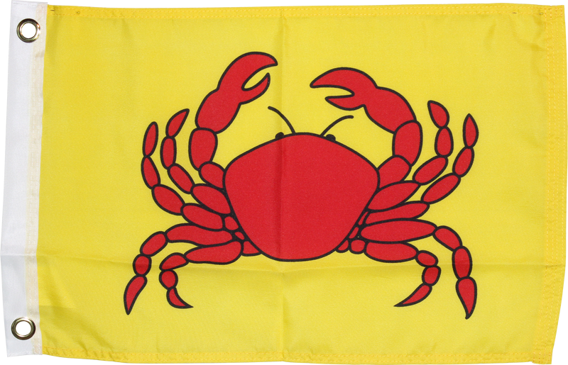 "Crab - 12""X18"" Rough Tex ® 100D Flag"