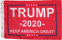 Red Trump 2020 Keep America Great KAG Double Sided Flag- 12''X18''  Rough Tex®