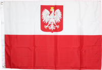 Old Poland With Coat Of Arms Flag 2'x3'- Rough Tex® 100D