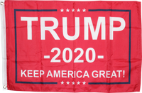 Trump 2020 KAG Keep America First Red Flag - 2'X3' Feet 100D ROUGH TEX ®