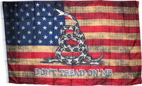 America Don't Tread On Me Vintage Flag 3'x5' 100D ROUGH TEX ®