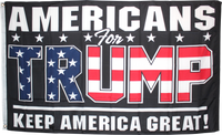 Americans For Trump Keep America Great KAG Black - 3'X5' Rough Tex® 100D