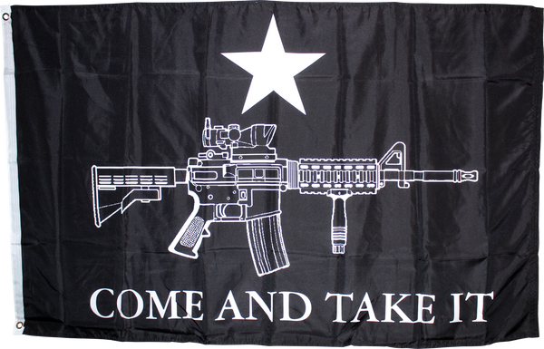 Black Tactical M4 Come & Take It Flag 3'X5' Rough Tex® 100D