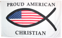Proud American Christian 3'X5' Flag - Rough Tex ®100D