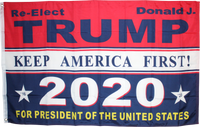 Re-Elect Donald J. Trump 2020 For President Of The United States 3'X5' Rough Tex® 100D