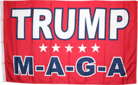 TRUMP M A G A RED 3x5 Feet Flag Rough Tex ® Flags 100D