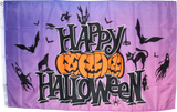 3'x5' Happy Halloween Purple Flag 100D ROUGH TEX ®