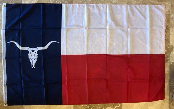 Longhorn Texas Steer 3'x5' 100D Flag Rough Tex ® American History Long Horn