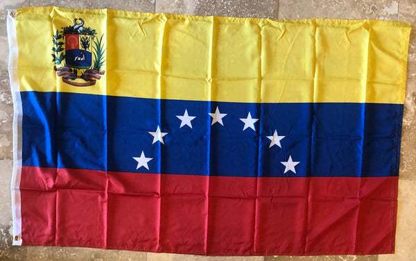 Venezuela 1950-2006 Seven Stars Official Crest 3'x5' 100D International Flag Rough Tex ®