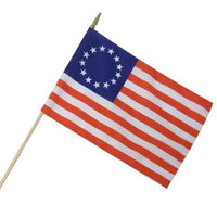 Betsy Ross 12x18 Inches Stick Flags Original 13 Stars USA