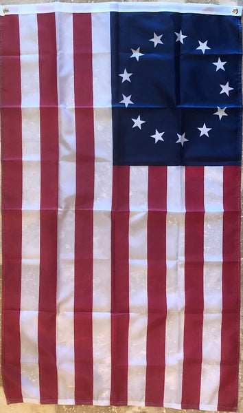 Betsy Ross 3x5 Feet Flag with Grommets Rough Tex 150D Nylon ® Americana