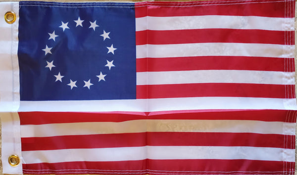"Betsy Ross 12""x18"" Inches Boat Flags 150D Flag Rough Tex ® Expertly Printed"