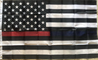 US FIRE POLICE MEMORIAL 3x5 feet American flags Nylon 150D Rough Tex ® Waterproof & UV Protected