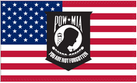 POW MIA You Are Not Forgotten Flag - 3'X5' Rough Tex® 100D
