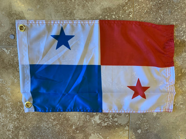 Panama Flag With Grommets-100D 12x18 ROUGH TEX®