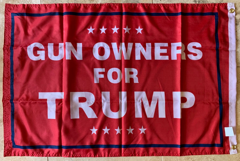 Gun Owners For Trump Red Double Sided Flag Rough Tex ® 2'x3' 100D