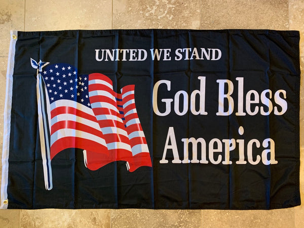 United We Stand God Bless America- 3'X5' Rough Tex® 100D