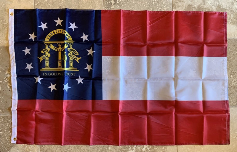 Georgia Flag- 5'x9.5' Rough Tex® Cotton