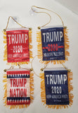 Trump Mini Banners:  Trump Nation, Trump 2020 Blue, Trump 2020 Red, Trump No More Bullshit