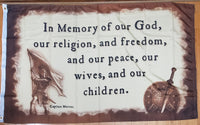 *TEMPORARILY OUT OF STOCK*  Title Liberty In Memory Of God Flag - 3'X5' Rough Tex® 100D