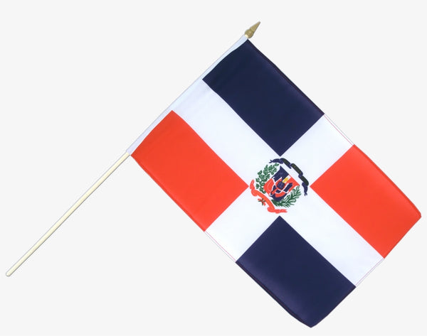 Dominican Republic Stick Flag In Poly 4''X6''