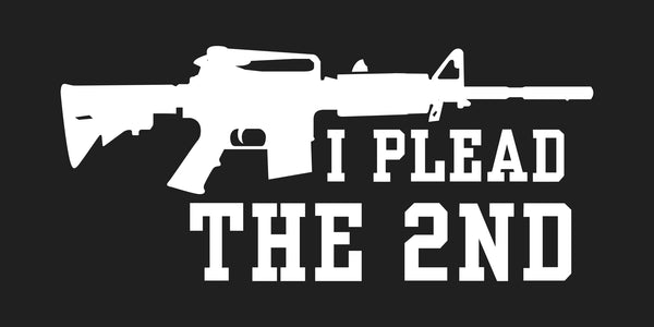 I Plead the 2nd Amendment Assault Rifle Bumper Sticker