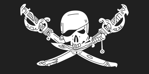 Jolly Roger Brethern of the Coast Pirate Bumper Sticker