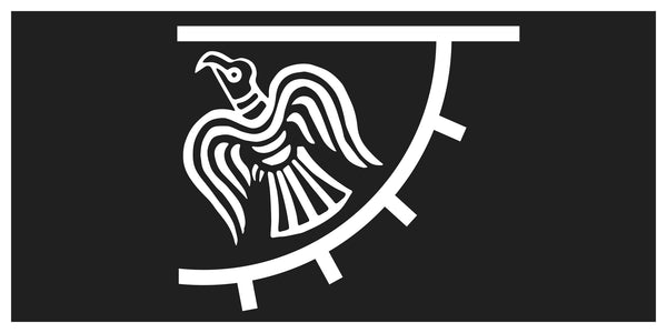 Viking Raven Black Bumper Sticker
