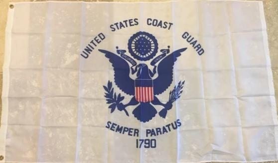 "UNITED STATES COAST GUARD 100D ROUGH TEX ® 12""X18"" BOAT FLAG USCG"