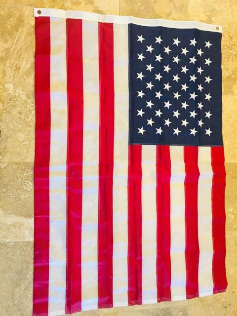 USA 210D NYLON SEWN & EMBROIDERED FLAGS 5X8 FEET AMERICAN