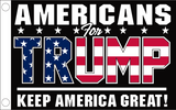 Americans For Trump KAG Keep America Great Double Sided 2'X3' Flag Rough Tex® 100D