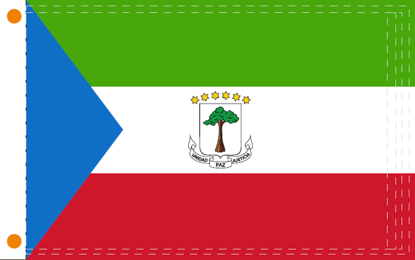 Equatorial Guinea 2'x3' 100D Flag Rough Tex ®