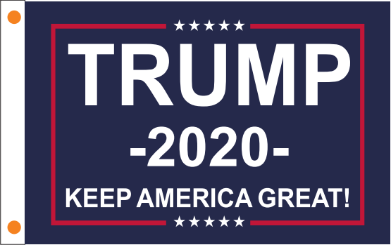 Trump 2020 KEEP AMERICA GREAT 100D 2x3 Feet Flag Rough Tex ® Large Boat Flag Or Under the USA Flag
