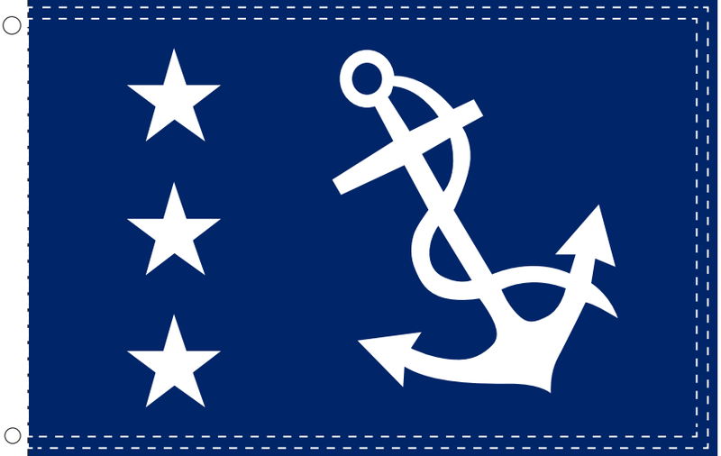 United States Yacht Club Past Commodore Ensign 2'x3' 100D Flag Rough Tex ®