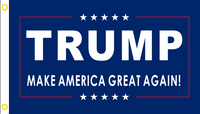 "Trump IV ""MAGA""  Double Sided 2'x3' 100D Flag Rough Tex ®"
