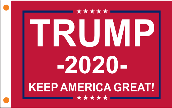 Trump 2020 KEEP AMERICA GREAT KAG RED 100D 2'X3' Rough Tex ® Large Boat Flag