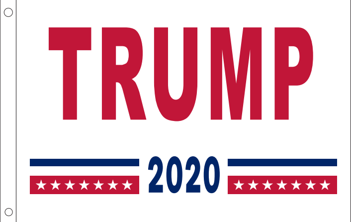 TRUMP 2020 WHITE 2x3 Feet 100D ROUGH TEX ® FLAG