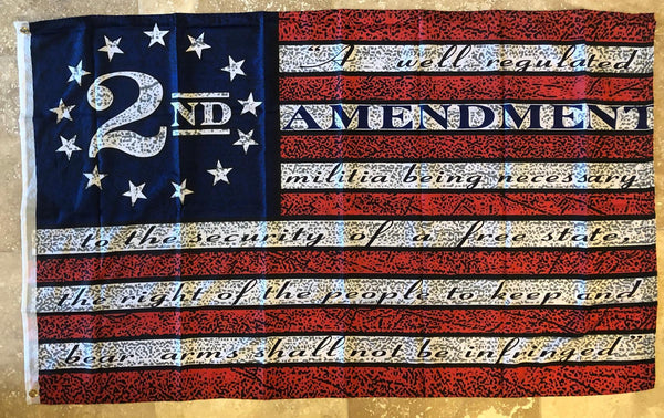 USA 2ND AMENDMENT 3'x5' 100D Flag Rough Tex ® American History