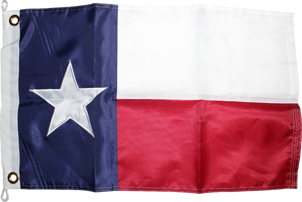 Texas 16x24 inches Boat Flags Dura-Lite ™ 300D Nylon Embroidered