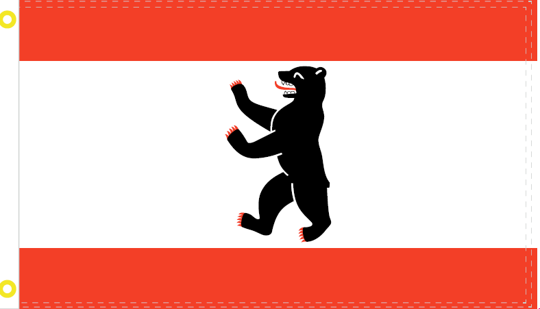 BERLIN BEAR 3X5 FEET 100D ROUGH TEX ® FLAG