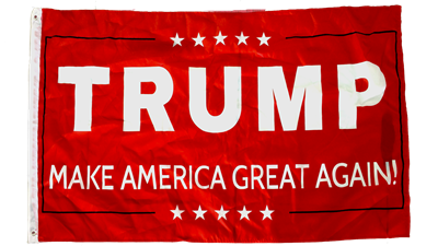 *TEMPORARILY OUT OF STOCK* Trump MAGA Red IV Campaign Flag 3x5 feet Rough Tex ®