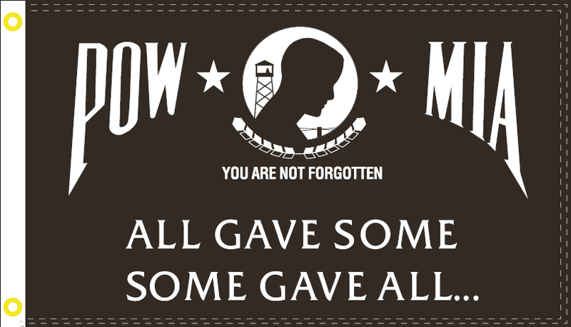 3'X5' POW MIA ALL GAVE SOME SOME GAVE ALL FLAG 100D ROUGH TEX ®