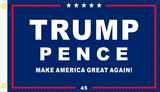 TRUMP PENCE MAGA45 ORIGINAL BLUE 3x5 Feet Flag Rough Tex ® Flags 100D