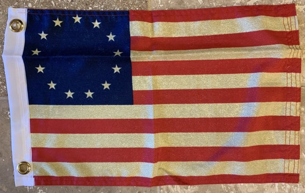 Vintage Betsy Ross Flag With Grommets 12'X18' Rough Tex® 100D