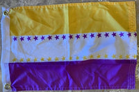 Women's Suffrage Flag With Grommets 12''X18' Rough Tex® 100D