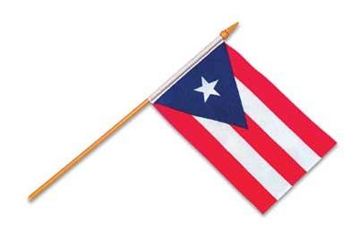 12 Puerto Rico - Stick Flag 12''x18'' Rough Tex ® 68D