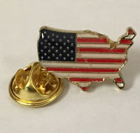 USA Map- Cloisonne Hat & Lapel Pin