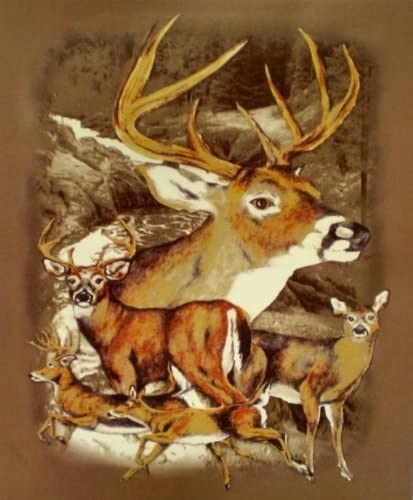 Deer Herd Deluxe Polar Fleece Blanket