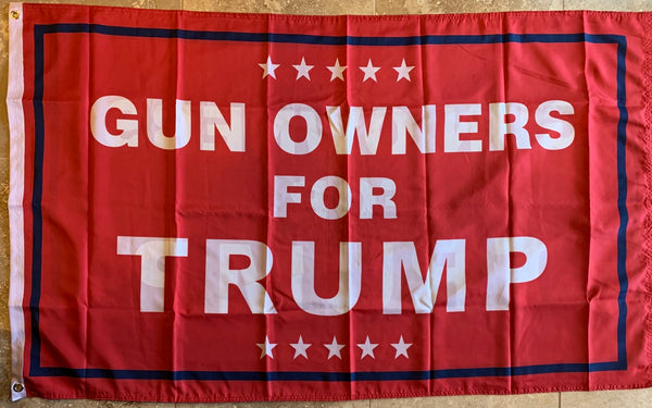 Gun Owners For Trump Red Double Sided 3'X5' Rough Tex® 100D